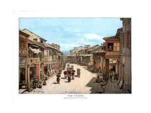 A Street in Hong Kong, 1900