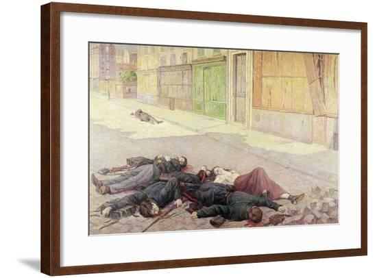 A Street in Paris in May 1871 Or, the Commune, 1903-05-Maximilien Luce-Framed Giclee Print