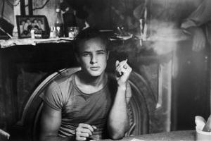 A STREETCAR NAMED DESIRE, 1951 directed by ELIA KAZAN with Marlon Brando (b/w photo)