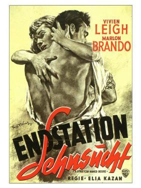 A Streetcar Named Desire, German Movie Poster, 1951