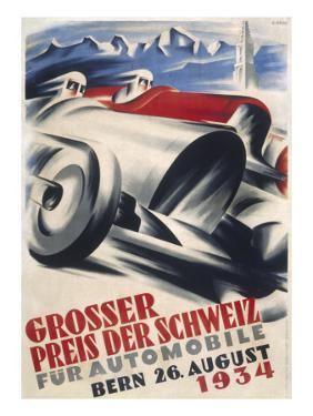 A Striking Poster for the Grand Prix of Switzerland Held at Bern