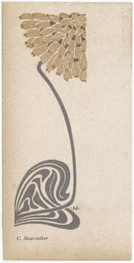 A Stylized, Art Nouveau Depiction of a Flower - Possibly a Dandelion
