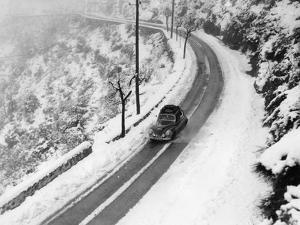 A Sunbeam 90 Mkii During the Monte Carlo Rally, 1956