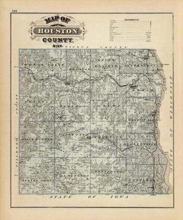 Map of Houston County, Minnesota, c.1874