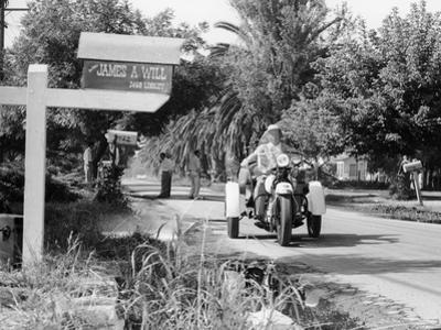 A Three Wheeled Harley-Davidson Police Bike, America, 1950S