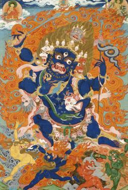 A Tibetan Thang.ka Depicting the Four-Armed and Four-Headed Caturbhujamahakala, circa 1900