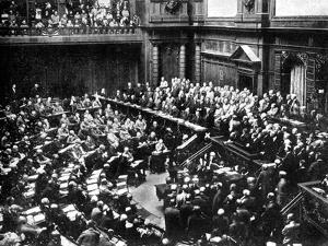 A Typical Sitting of the Reichstag, Parliament of the German Republic, 1926