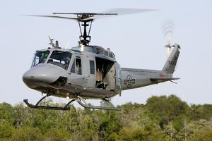 A U.S. Air Force Th-1H Huey Ii During a Training Sortie in Alabama