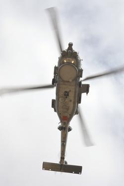 A U.S. Navy MH-60R Seahawk in Flight over Coroando, California