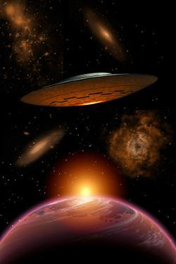 A Ufo on its Journey Through the Vastness of Our Galaxy