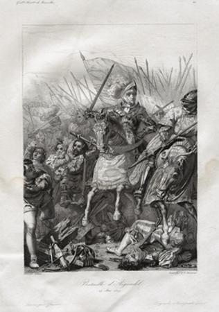 The Battle of Agnadello Engraving