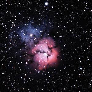 M20, the Trifid Nebula by a. v. ley