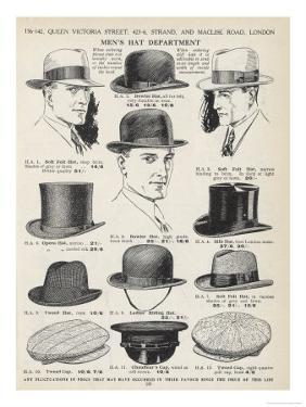 A Variety of Men's Hats