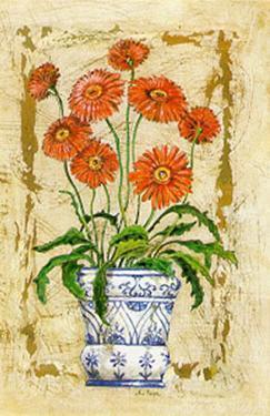 Ceramica con Gerberas by A. Vega