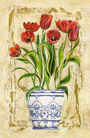 Ceramica con Tulipanes