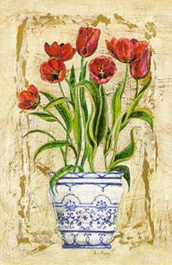 Ceramica con Tulipanes by A. Vega