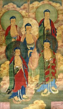 A Very Rare Buddhist Votive Painting, Dated Wanli 19th Year
