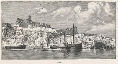 A View from the Sea Toward the Island of Ibiza