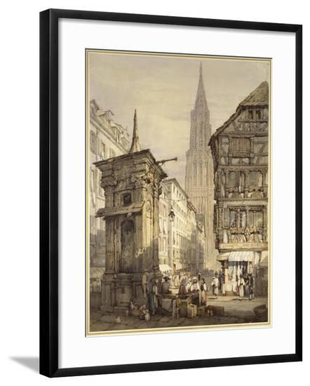 A View in Strasbourg, 1822-Samuel Prout-Framed Giclee Print