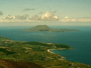 A View of Clare Island from the Top of Croagh Patrick