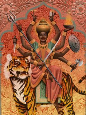 A View of Durga, the Indian Goddess of War, Sitting on a Tiger