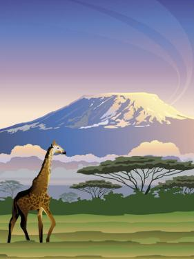 A View of Mt. Kilimanjaro in Africa