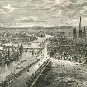 A View of Rouen, Normandy, in the Nineteenth Century, from 'French Pictures' by Rev. Samuel G.…