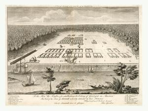 A View of Savannah, Georgia, as it Stood the 29th of March, 1734. Lithograph, USA, America