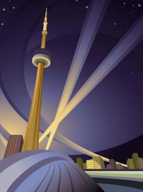 A View of the Cn Tower in Toronto