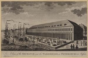 A View of the Exchange and the Warehouses at Petersburg in Russia