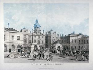 A View of the Horse Guards from Whitehall, Westminster, London, 1836