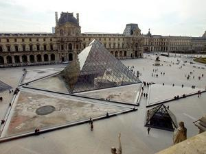 A View of the Louvre Pyramid, and the Southern Wing of the Louvre Building