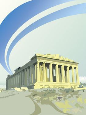 A View of the Parthenon in Athens, Greece