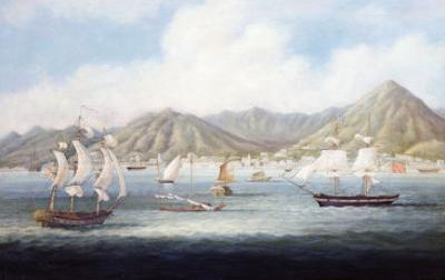 A View of Victoria, Hong Kong with British Ships and Other Vessels