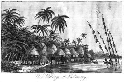 A Village at Nancowry, Nicobar Islands, 1799