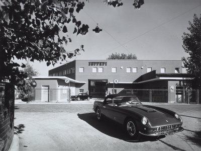 Entrance and Facade of the Ferrari Factory in Maranello
