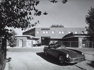 Entrance and Facade of the Ferrari Factory in Maranello by A. Villani
