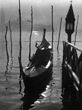 Gondola in the Lagoon, in Venice by A. Villani