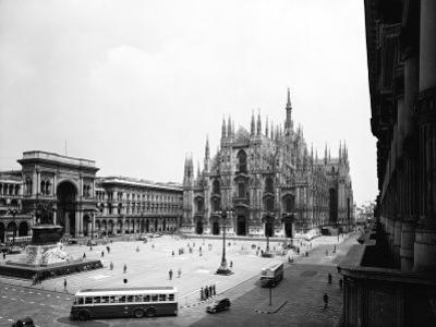 View of Piazza Duomo in Milan by A. Villani