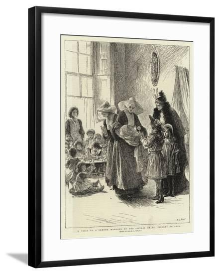 A Visit to a Creche Managed by the Sisters of St Vincent De Paul-Mary L. Gow-Framed Giclee Print