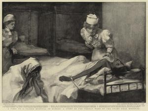 A Visit to a Plague Hospital in Bombay, a Scene in the Female Ward of the Grant Road Hospital