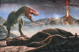 A Volcanic Eruption Destroys the Hunting Grounds of Tyrannosaurus Rex