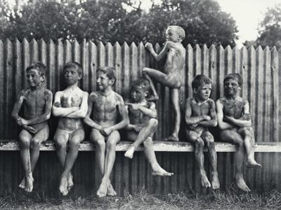 Mud-Covered Boys after a Swim by A. W. Cutler