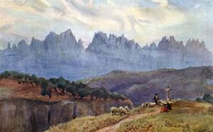 Spain, Montserrat 1906 by A Wallace Rimington
