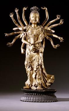 A Well-Cast Gilt-Bronze Figure of a Multi-Armed Bodhisattva, 17th/18th Century
