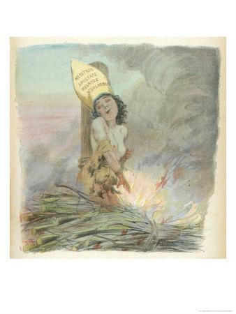 Joan of Arc Burned at the Stake in Rouen on 30 May 1431