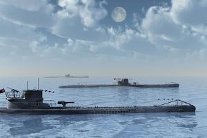 A Wolfpack of German U-Boat Submarines