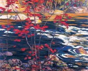 The Red Maple by A. Y. Jackson