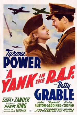 A Yank in the R.A.F., L-R: Betty Grable, Tyrone Power, 1941