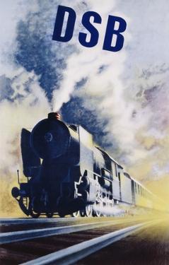 Dsb Danish State Railways Poster by Aage Rasmussen